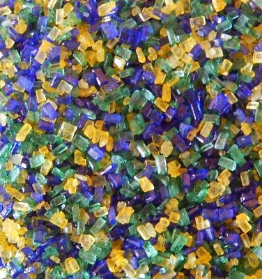 Mardi Gras Purple, Yellow, and Green Sugar Crystals 4 oz - National Cake Supply