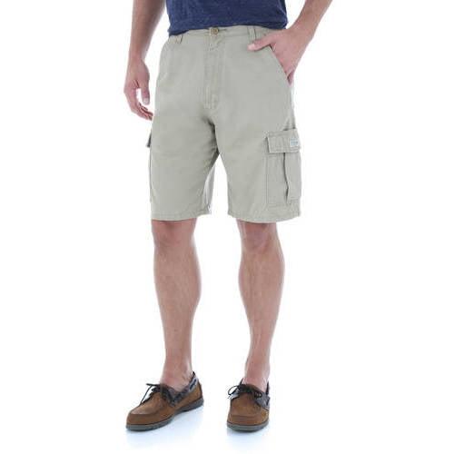Boys Adjustable Waist Wrangler Cargo Shorts Khaki//Dark Putty