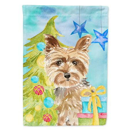 - Christmas Tree Yorkie Yorkshire Terrier Garden Flag