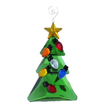 Ornament Decorated Faux Crystal Christmas Tree Ornament - By Ganz - Decorate Office Christmas