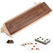 Deluxe Cribbage Set - Solid Walnut Wood