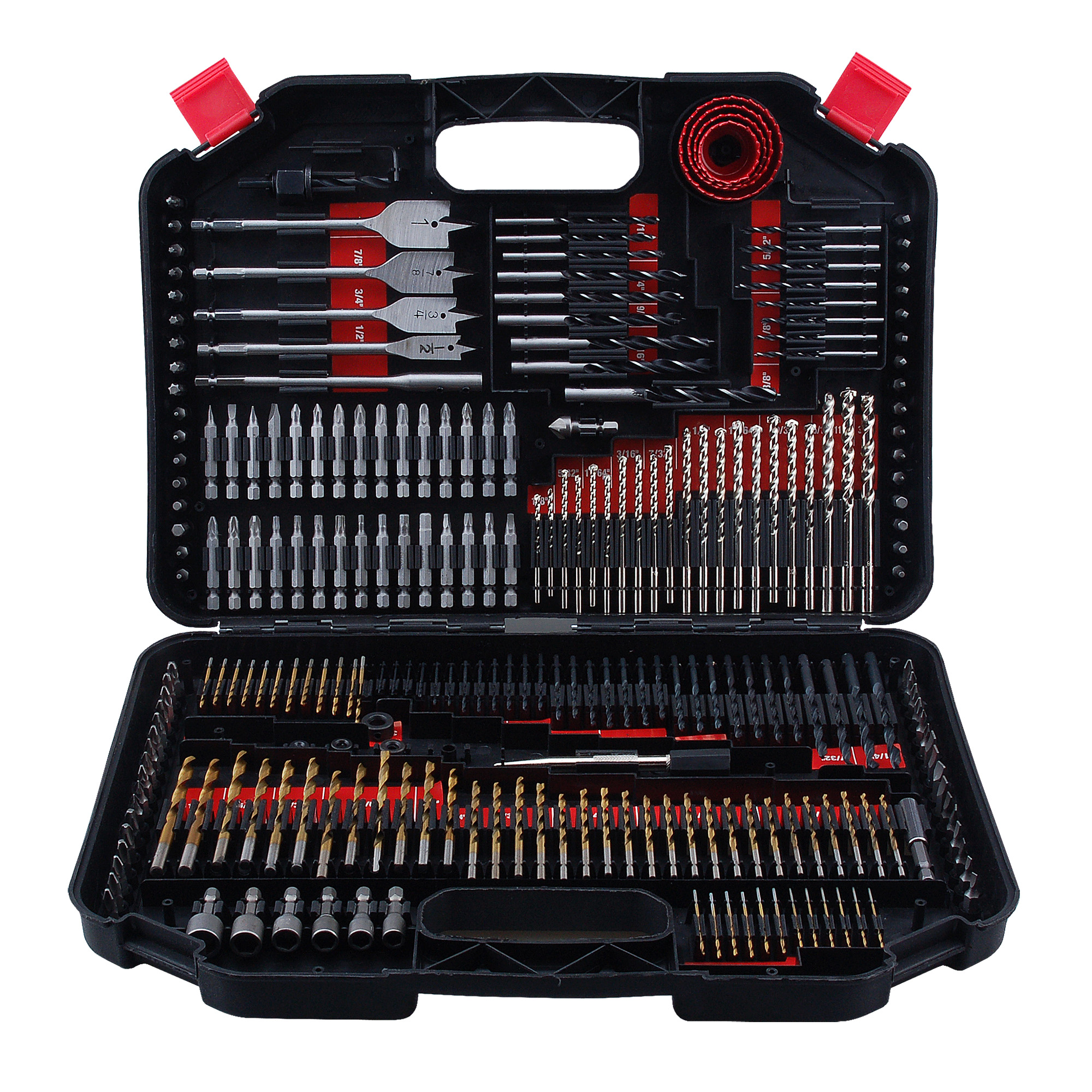 Worker 246pc Impact Drill and Drive Bit Set with Storage Case