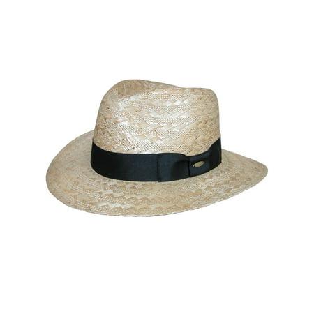 Scala Classico Mens Wide Weave Safari Hat With Ribbon Hatband Natural Walmartcom