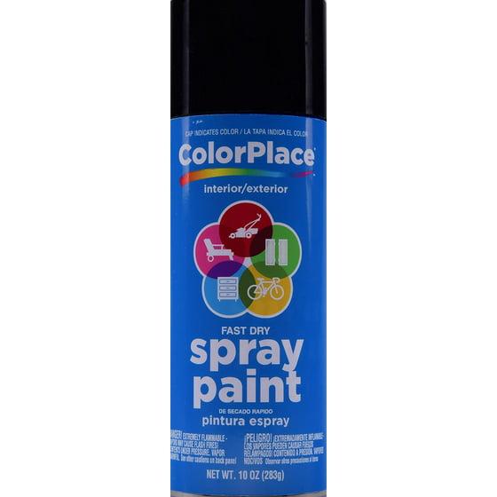 ColorPlace Gloss Spray Paint, Black - Walmart com