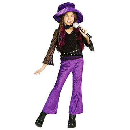 Rubies Girls 'Pop Diva' Halloween Costume, Purple, L