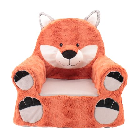 Kids Embroidered Chair (Sweet Seats Adorable Fox Children's Chair Ideal for Children Ages 2 and up, Standard Size, Machine Washable Removable Cover,13
