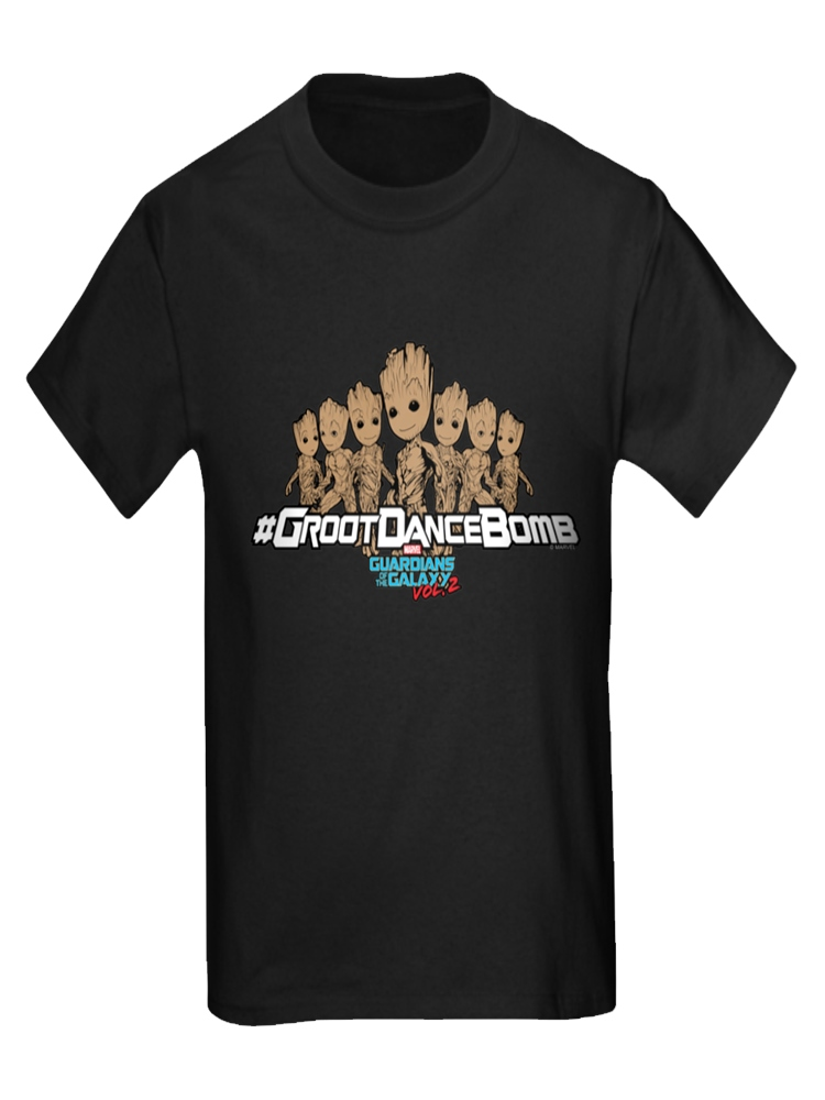 CafePress - Groot Dance Bomb - Kids Dark T-Shirt