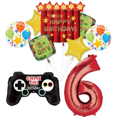 Halloween Party Balloon Games (Video Game 6th Birthday Party Supplies TNT Pixelated Balloon Bouquet)
