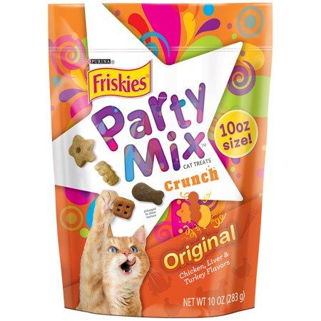 Purina Friskies Party Mix Crunch Original Cat Treats 10 oz. Pouch
