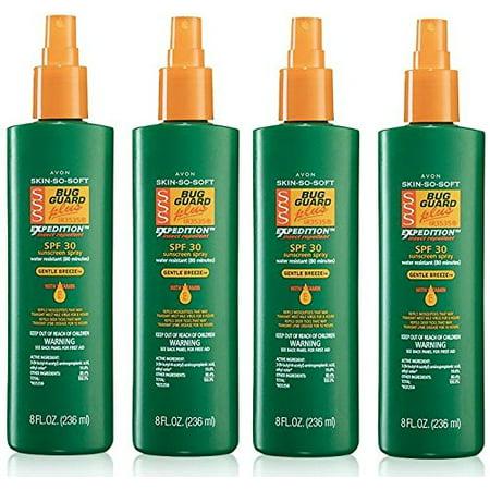 Skin So Soft Bug Guard Plus IR3535 Expedition SPF 30. 8oz.Family Size Pump Spray LOT OF (Avon Skin So Soft Bug Guard Plus)