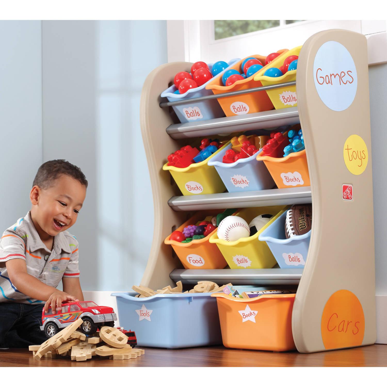 Storage Bin Organizer Kids Toy Chest Book Shelf Shelves Baby Toddler Bo Bins