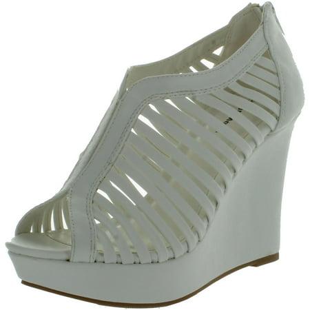 Top Moda Womens Denver-1 Gladiator Wedge Heel Sandals (Women Sandal Gladiator Wedge)