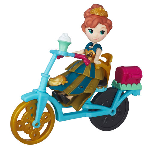 Disney Frozen Little Kingdom Anna and Bicycle by Hasbro