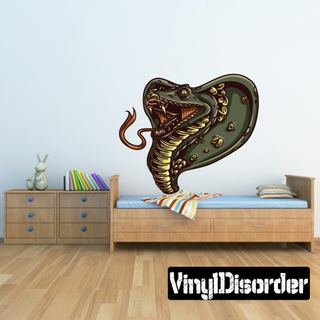 Cobra Snake Wall Decal - Vinyl Car Sticker - Uscolor002 - 25 Inches (Cobra Decal)