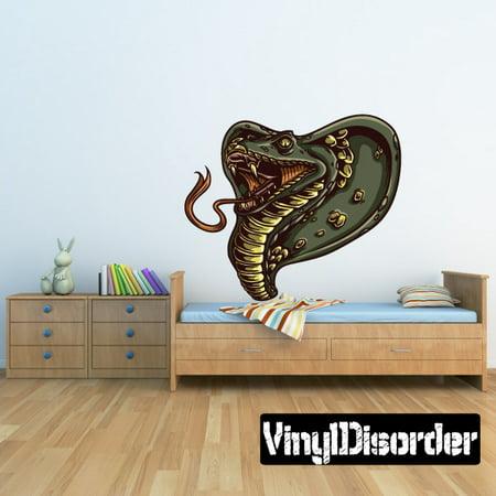 Cobra Snake Wall Decal - Vinyl Car Sticker - Uscolor002 - 25 - Cobra Vinyl Decal