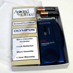 S-711 Olympus Microcassette Voice Recorder S711 Gift Boxed by Around the Office by Olympus