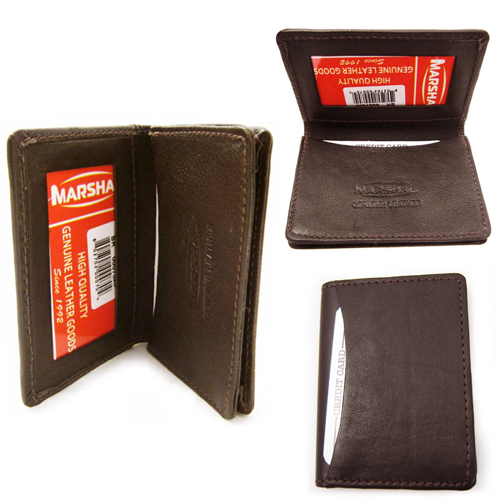 RFID Wallet Card Holder Id Credit Blocking Leather Money New Mens Genuine Brown