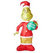 gemmy 11 ft grinch with ornament airblown lighted christmas yard inflatable outdoor holiday disaplay