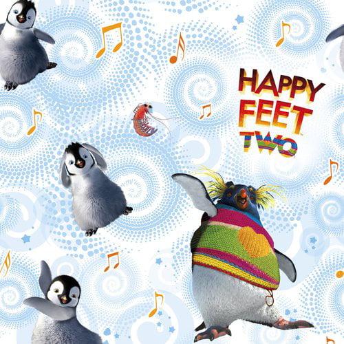 Happy Feet Christmas Roll Wrap