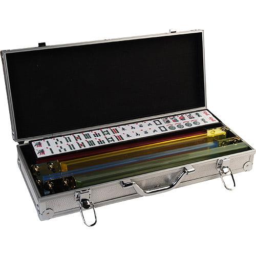 Classic Games Collection Deluxe Mah Jong Set, Aluminum Case