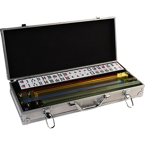 Classic Games Collection Deluxe Mah Jong Set, Aluminum Case