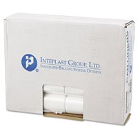 Inteplast Group Commercial Trash Bags, Perforated Roll, 10gal, 24 x 24, Natural, 1000/Carton