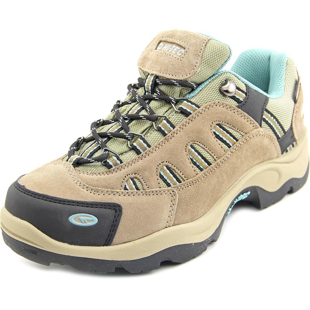 Hi-Tec Bandera Low WP WOS Women Round Toe Suede Tan Hiking Shoe by Hi-Tec