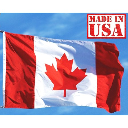 7b627b4ca90c US Flag Factory 3 x5  Canada Canadian Flag (Sewn Stripes) Outdoor SolarMax  Nylon - Made in America - Walmart.com