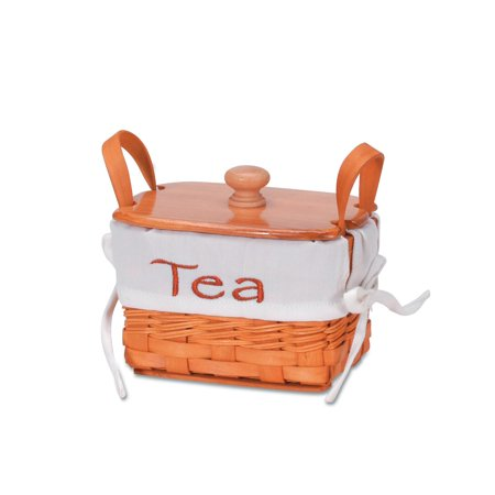 Chipwood Tea Basket with Liner: 6 inches - Basket Liners