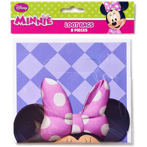 Minnie Mouse Bow-Tique Treat Bags, Pack of 8, Party Supplies