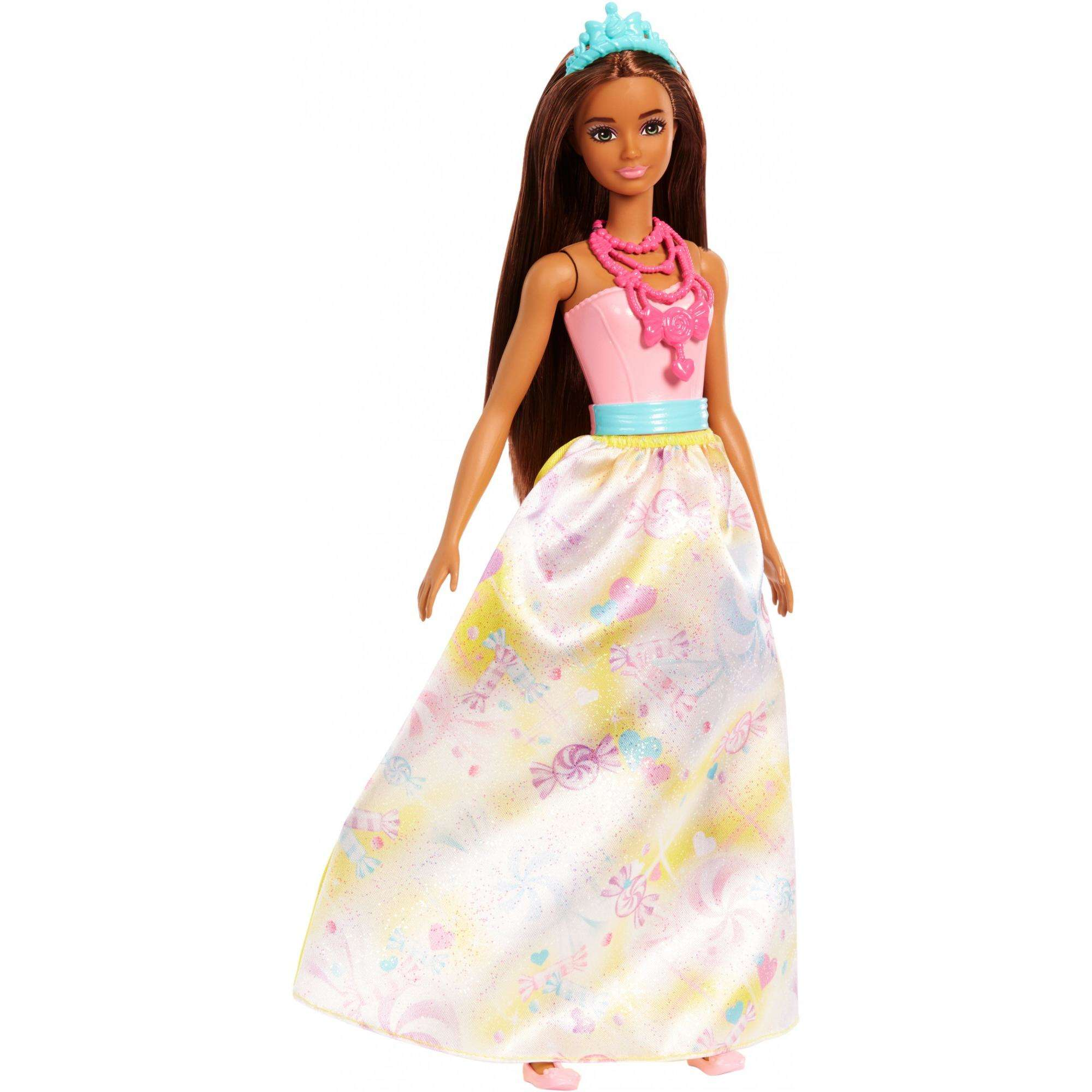Barbie Dreamtopia Princess Doll with Candy-Themed Skirt