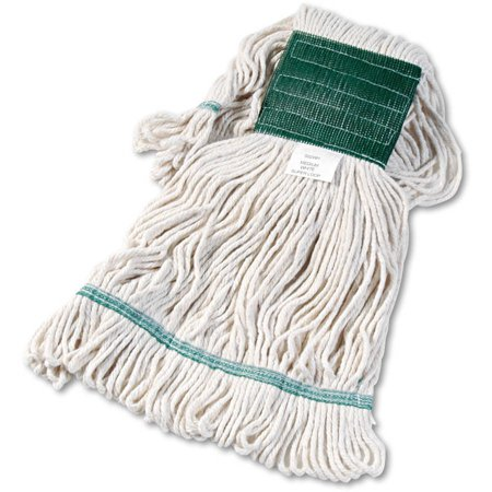 Boardwalk Medium White Cotton/Synthetic Super Loop Wet Mop Head, 1 -