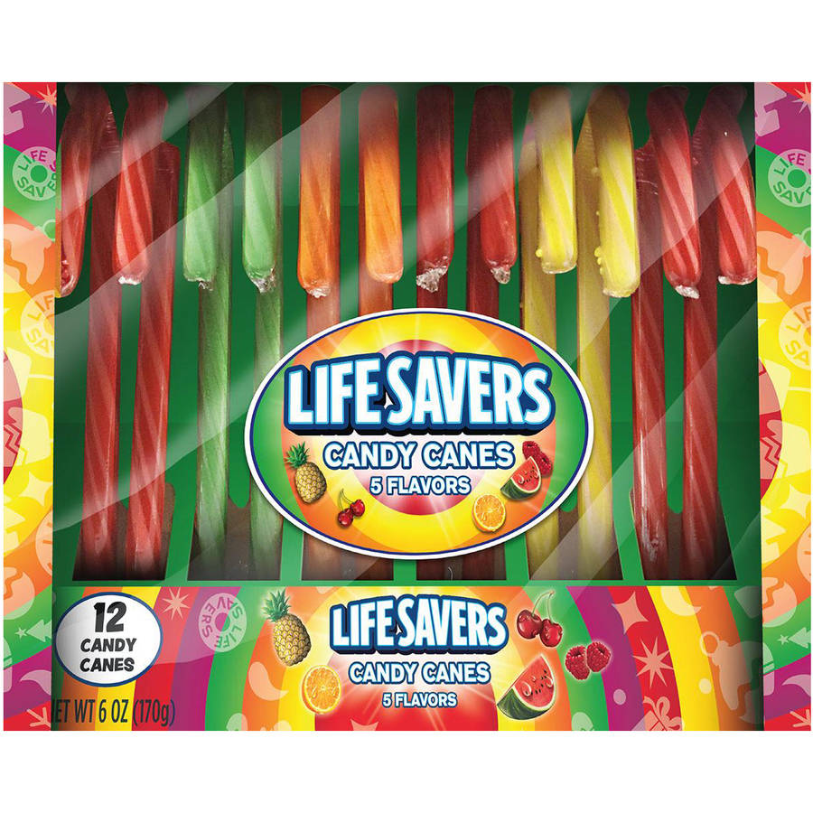 Life Savers 5 Flavors Candy Canes, 12 count, 6 oz