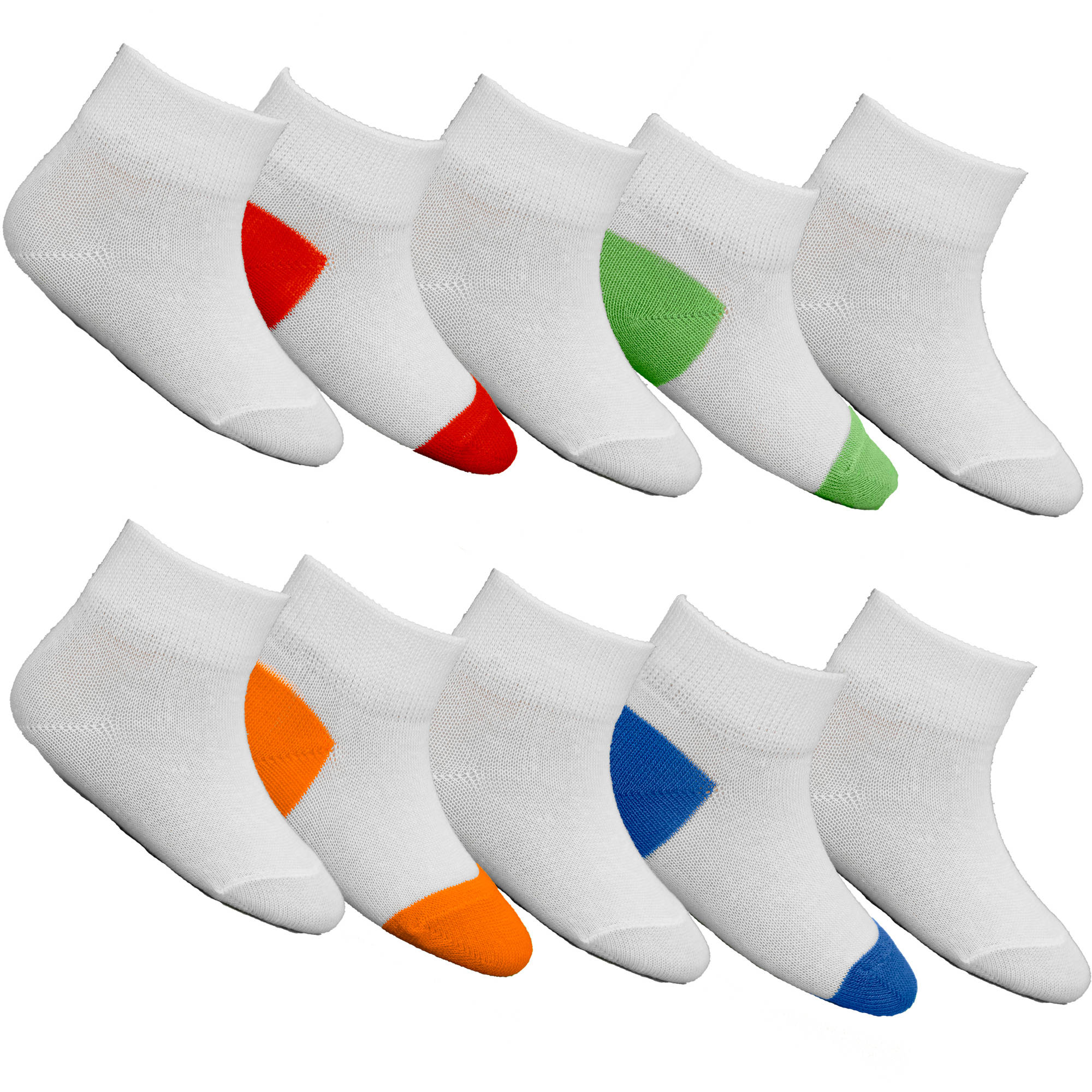 Fruit of the Loom Baby Boys' Tuff n' Comfy Low Cut Socks - 10 Pack