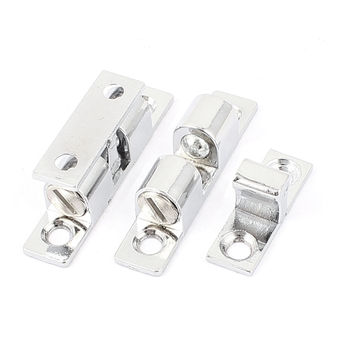 2 Pcs Alloy Cabinet Door Double Ball Catch Hardware 48mm Length