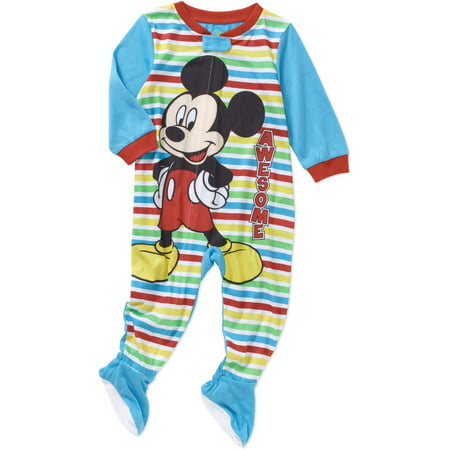 8e34f70717b1 Mickey Mouse - Newborn Infant Baby Boy Footed Blanket Sleeper ...
