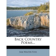 Back Country Poems...