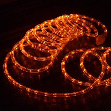 West Ivory 3 8 25 Feet Orange Led Rope Lights 2 Wire Accent Holiday Christmas Party Decoration Lighting 10 20 50 150 Ft Option Etl