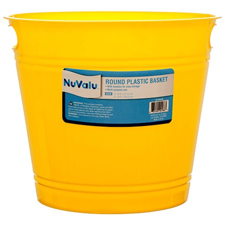 New 379540  Plastic Basket Rd D9.6