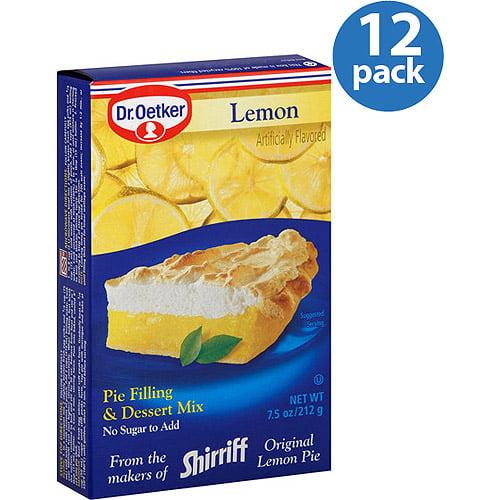 Dr. Oetker Lemon Pie Filling & Dessert Mix, 7.5 oz, (Pack of 12)