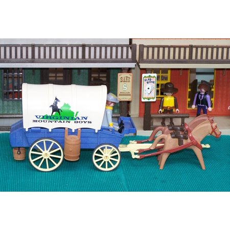 LAMINATED POSTER Covered Wagon Western Usa Southern States Playmobil Poster Print 24 x 36