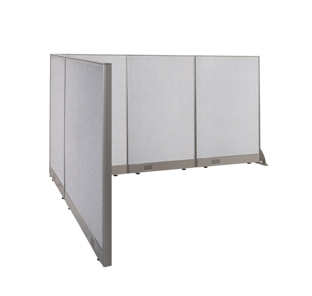 GOF L Shaped Freestanding Office Panel Cubicle Wall Divider Partition 78D X  90W X 48H