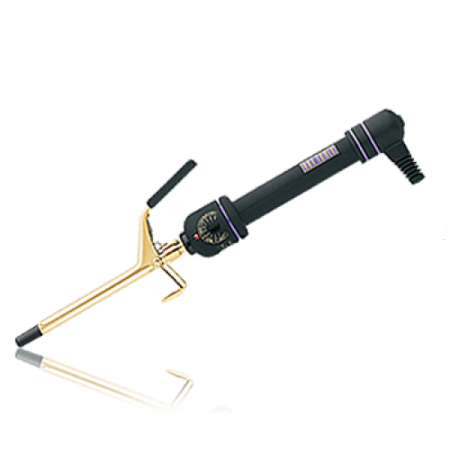 """Hot Tools 3/8"""" Hair Curling Iron 24 K Gold Plated Barrel with Extra High Heat and Fast Heating with 10 Variable Heat Settings up to 430° F, Soft Grip Handle"""