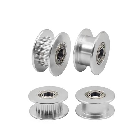 Aibecy Idle Pulley Gear Wheel Aluminium Idler Gear Teeth 3mm/4mm/5mm Core Diameter 3D Printers Parts for GT2 6mm Wide Timing Belt Pack of 10pcs