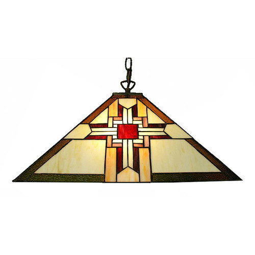 Warehouse of Tiffany Mission-Style 2 Light Pendant