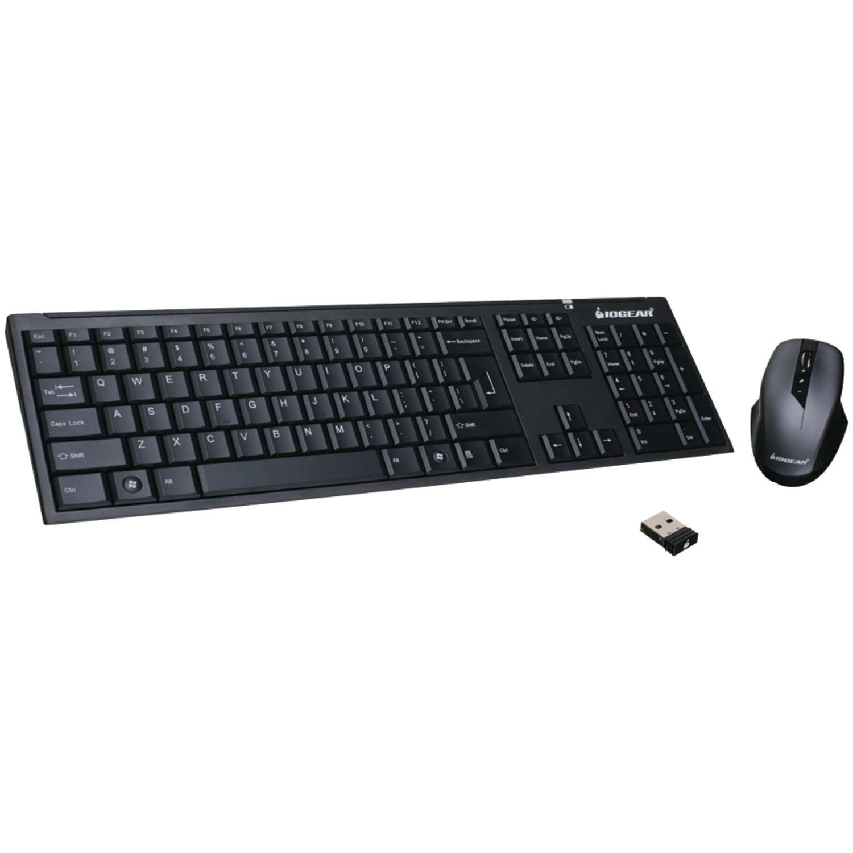 IOGEAR GKM552R Long-Range 2.4GHz Wireless Keyboard & Mouse Combination