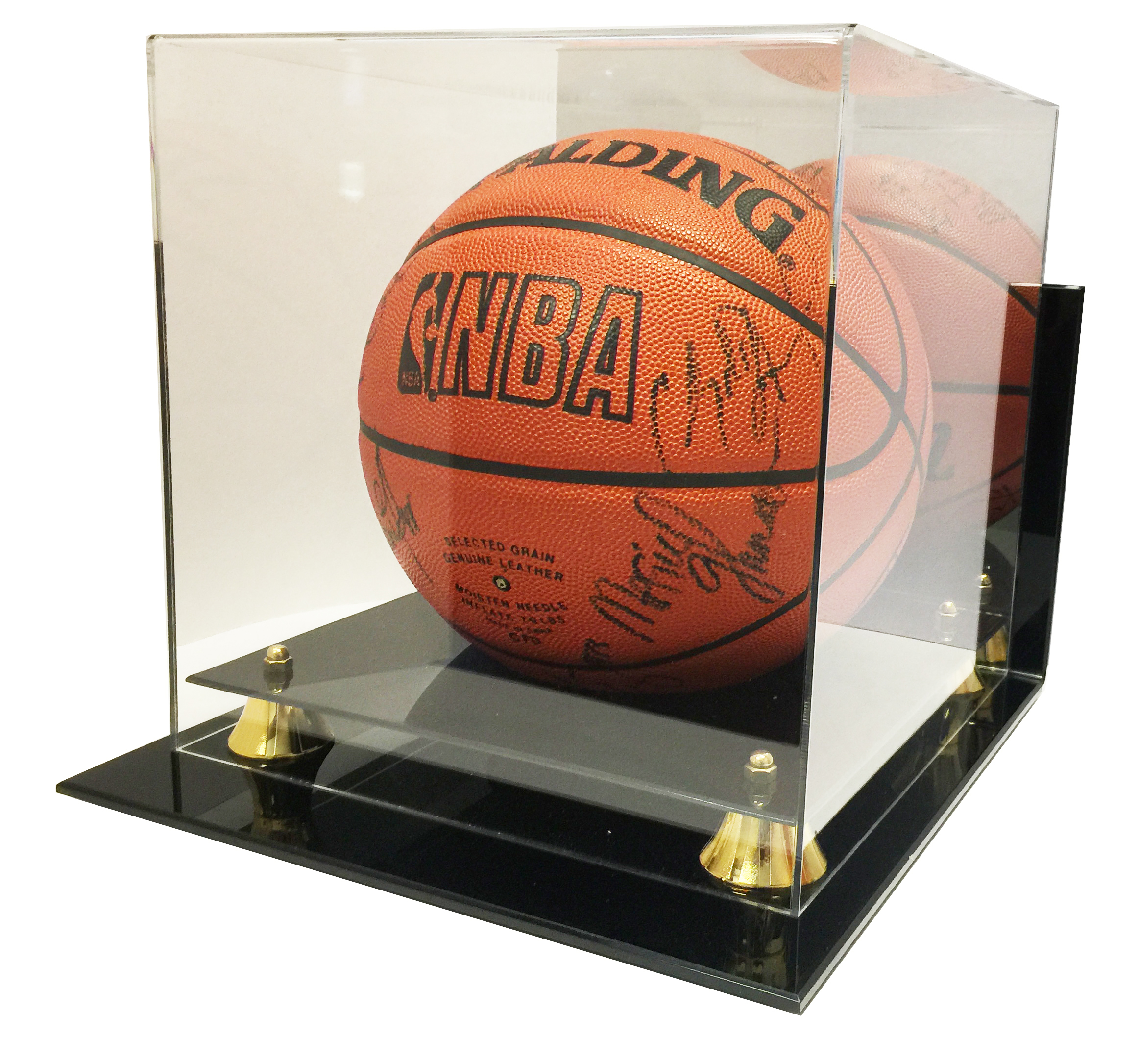 Wall Mount Deluxe Acrylic NBA NCAA Basketball Display Case with Mirror - New!