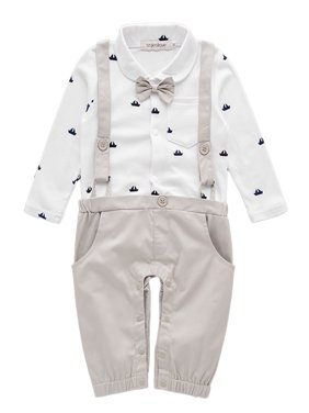 d3f85bc8d Product Image StylesILove Sailor Boat Print Faux Suspender Formal Wear Baby  Boy Romper (6-12 Months