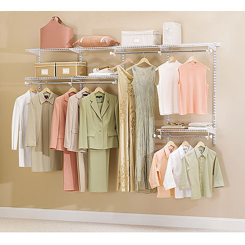 Rubbermaid Configurable 4' to 8' Closet Kit, White