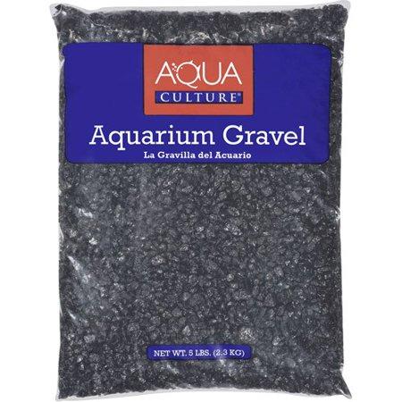 Saltwater Aquarium Gravel - Aqua Culture Black Chips Aquarium Gravel, 5 lb
